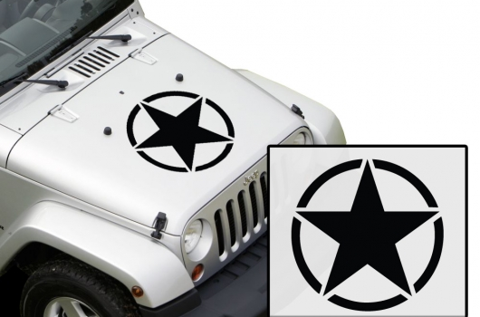 universal army star decal vehicle hood vinyl