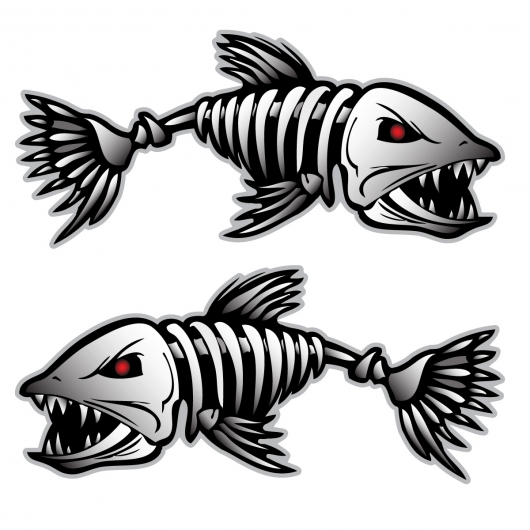 Bonefish Sticker Decal Vinyl Bones Skeleton Kayak Fishing