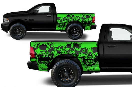 Detail Dodge Ram Skulls Green on 2009 Dodge Dakota Bed Size