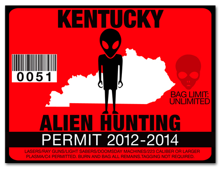 Alien hunting permit license choose from all u s states for Ky fishing license cost