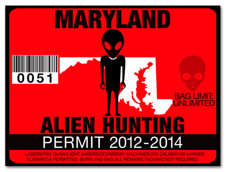 Alien hunting permit license choose from all u s states for Md fishing license