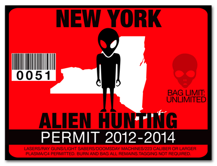 Alien hunting permit license choose from all u s states for Ny fishing license online
