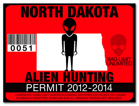 Alien Hunting Permit License Choose From All U S States