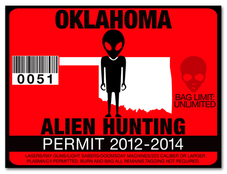 Alien hunting permit license choose from all u s states for Oklahoma non resident fishing license
