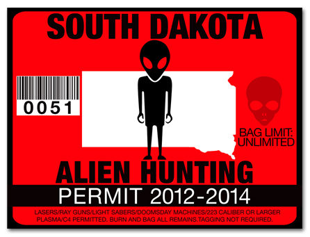 Alien hunting permit license choose from all u s states for South dakota fishing license