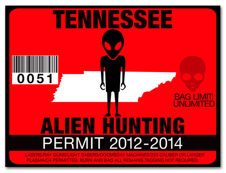 Alien hunting permit license choose from all u s states for Tn fishing license online