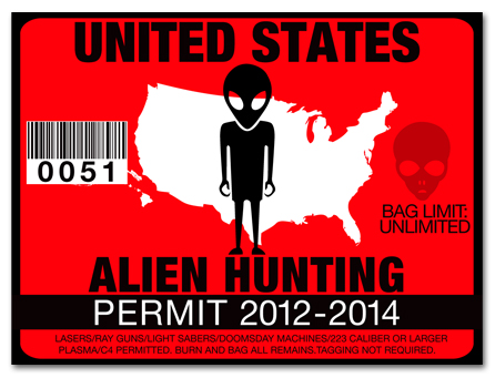 Alien hunting permit license choose from all u s states for Oregon fishing license price