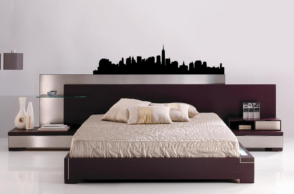 New york cityscapes vinyl bedroom wall art for Good look chicago skyline wall decal