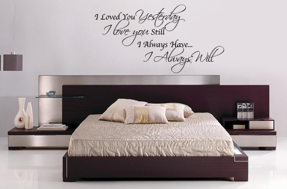 Bedroom text vinyl bedroom wall art always loved you Bedroom wall art