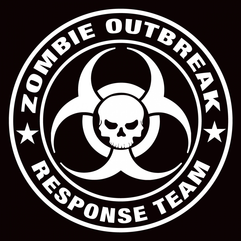 4 Inch Zombie Outbreak Response Team Vinyl Window Sticker