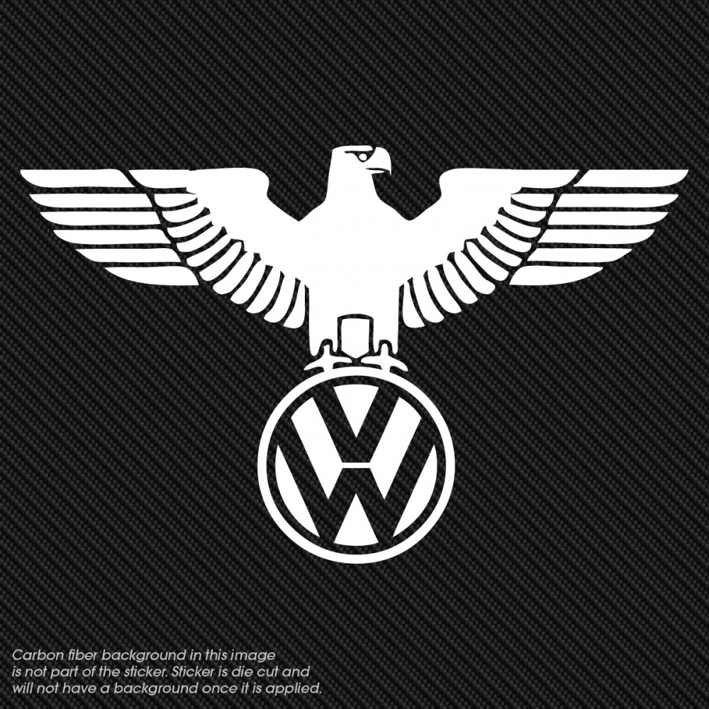 Vinyl Window Decals : Volkswagon eaglel vinyl window decal