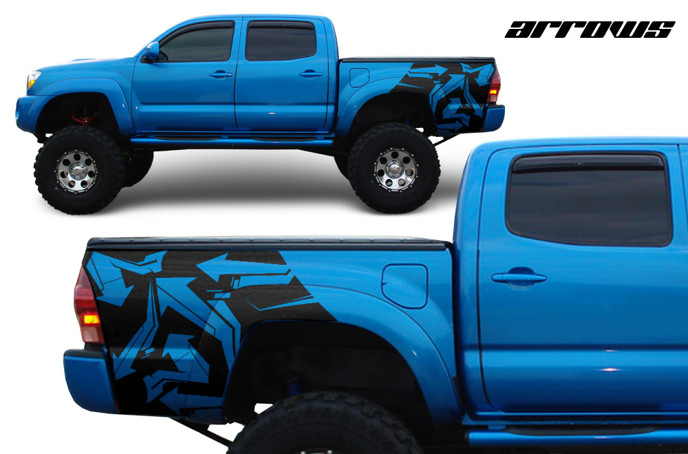Toyota Tacoma TRD Vinyl Graphics For Bed Fender Quarter Panel - Truck bed decals customford f vinyl graphics for bed fender