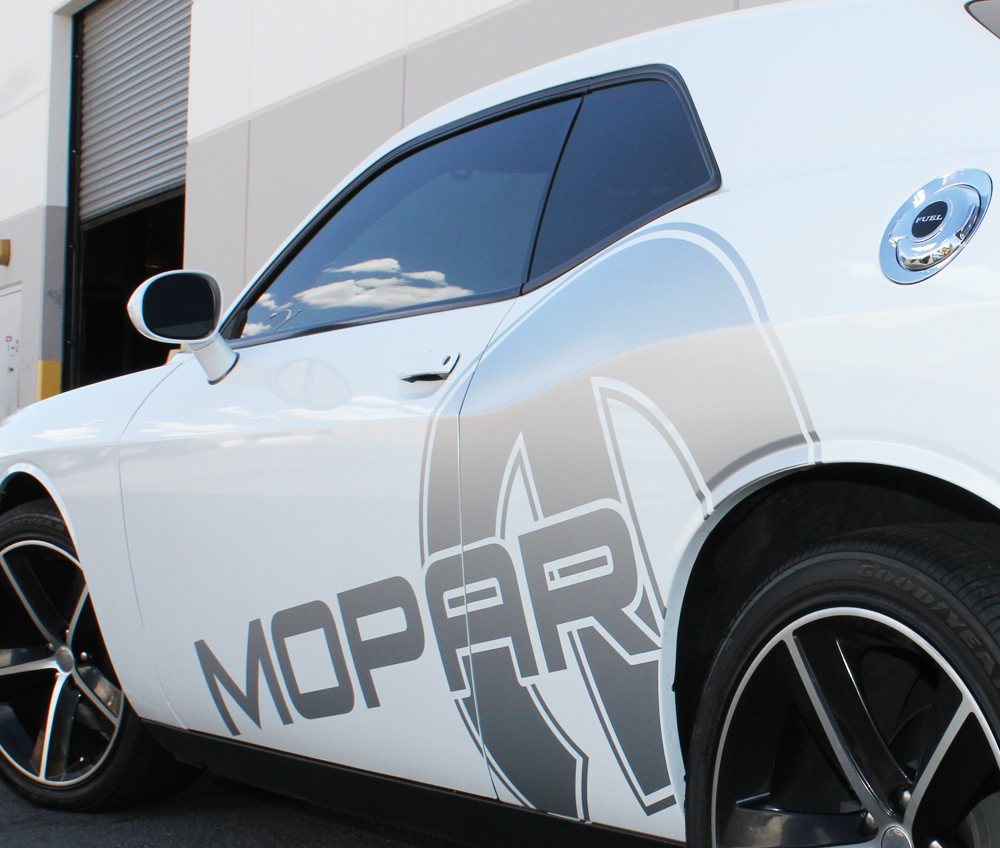 Dodge Challenger 08 14 Black Vinyl Mopar Graphics For Both