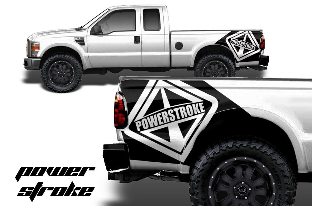 Ford f 250 350 vinyl graphics for bed fender