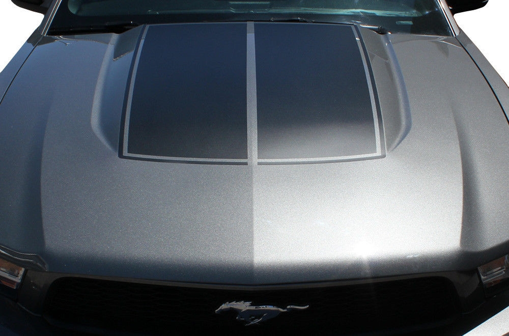 Mustang Decals And Stripes >> Ford Mustang Hood Stripes Vinyl Graphics Decal (2010-2013)
