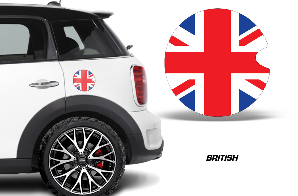 Mini cooper vinyl emblem graphics for gas cap