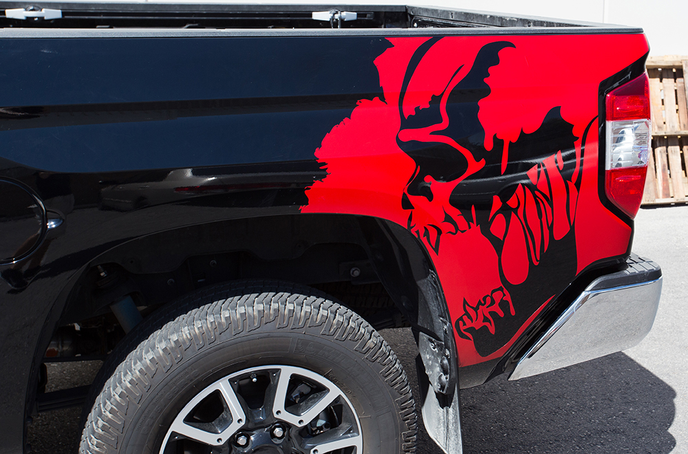 Toyota Tundra Vinyl Graphics For Bed Fender Quarter Panel - Truck bed decals customford fvinyl graphics for bed fender
