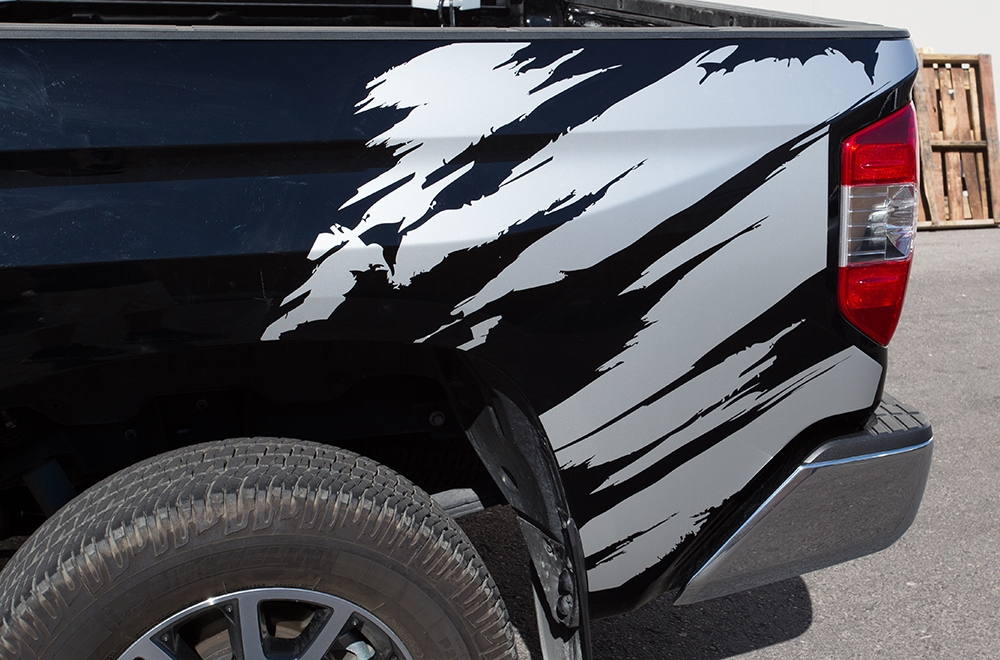 Toyota Tundra Vinyl Graphics For Bed Fender Quarter Panel - Truck bed decals customford f vinyl graphics for bed fender