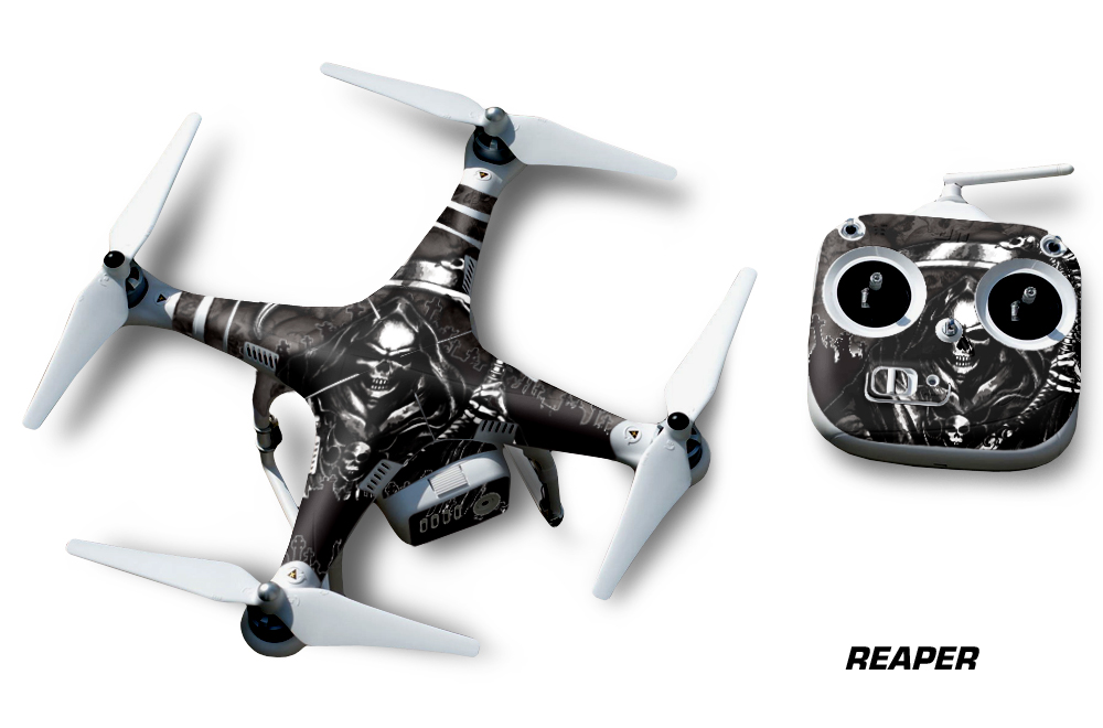 Dji phantom 2 wrap vinyl graphics for drone