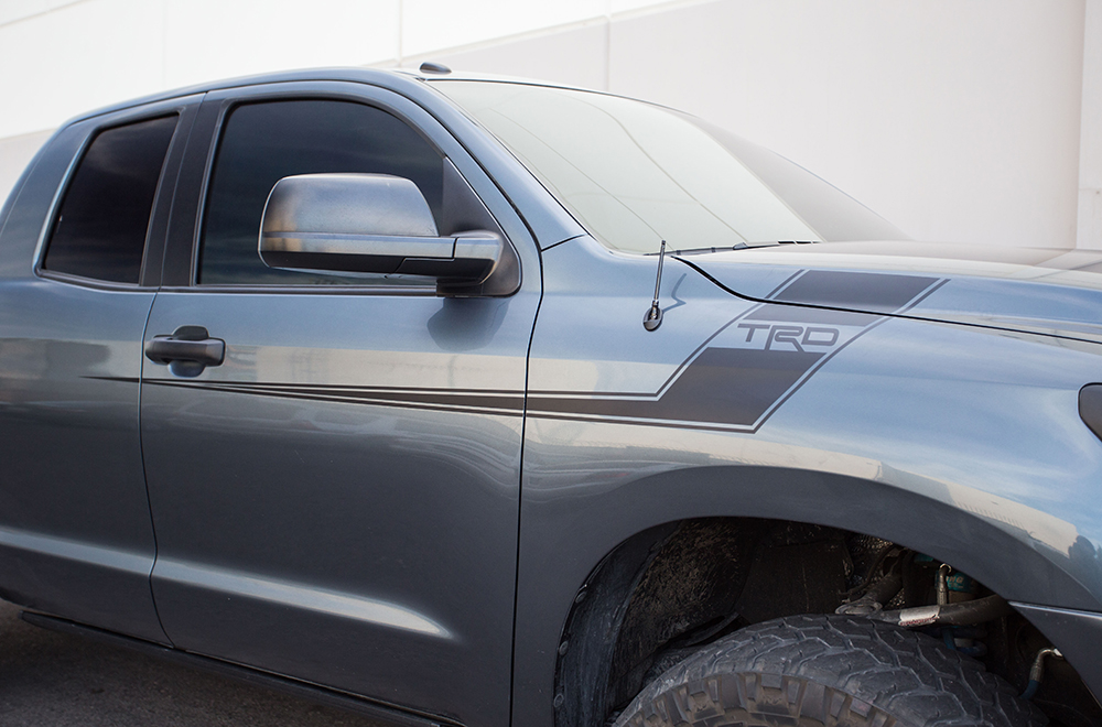 Toyota Tundra Vinyl Graphics For Front Side Of Truck - Custom tundra truck decals