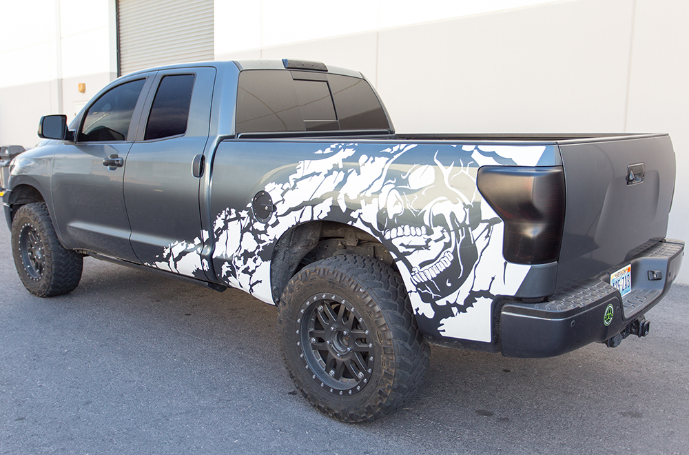Toyota Tundra Vinyl Graphics For Bed Fender - Truck bed decals customford fvinyl graphics for bed fender