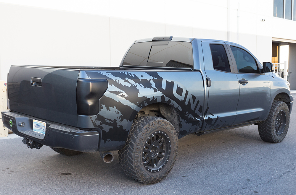 Toyota 4x4 Vector >> Toyota Tundra 07-13 Vinyl Graphics for Bed Fender