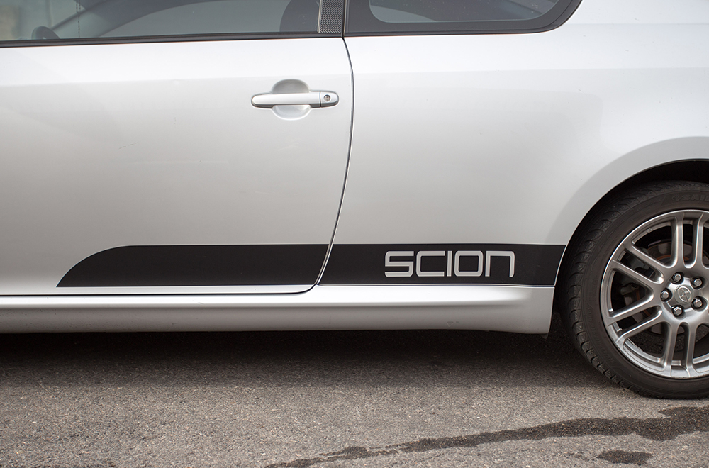 Scion tc 05 10 black vinyl graphics for sides of vehicle