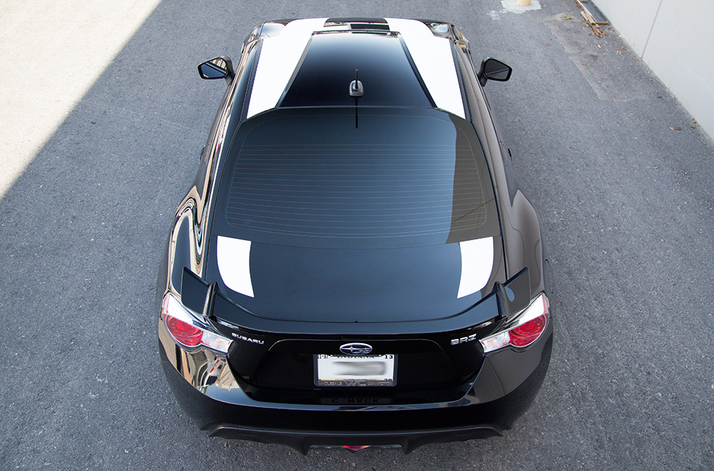 Subaru Brz 13 14 Black Vinyl Graphics For Hood Roof And