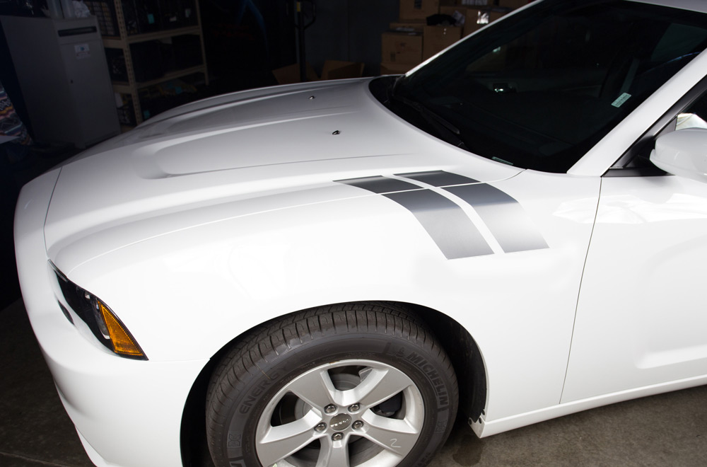 Dodge charger 11 14 vinyl graphics for hood
