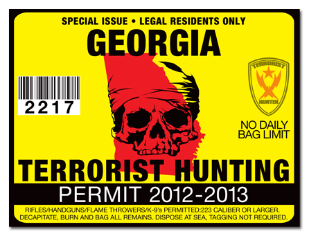 Terrorist hunting permit license choose from all u s for How much is a georgia fishing license
