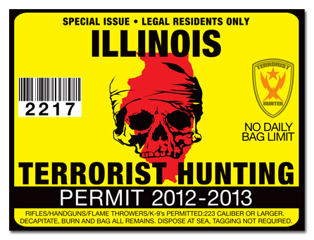Terrorist hunting permit license choose from all u s for Fishing license il