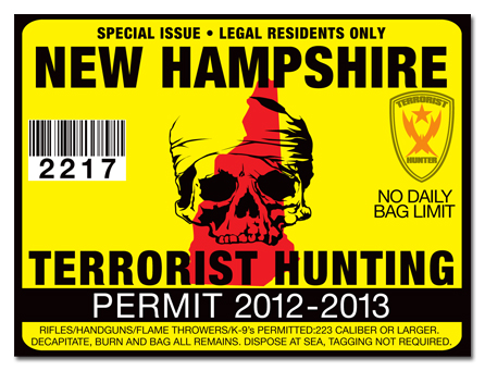 Terrorist hunting permit license choose from all u s for Michigan fishing license prices