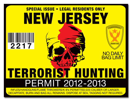 Terrorist hunting permit license choose from all u s for Fishing license nj