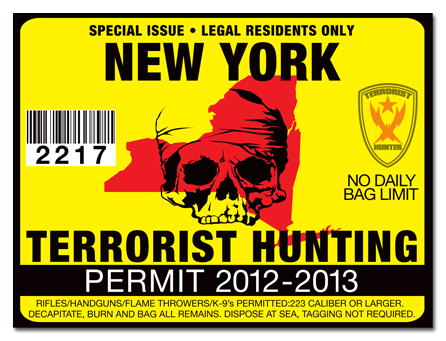 Terrorist hunting permit license choose from all u s for Nys fishing license online