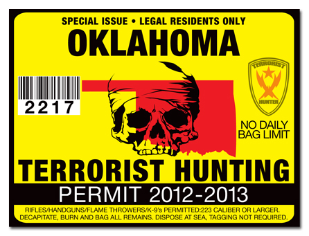 Terrorist hunting permit license choose from all u s for Oklahoma non resident fishing license