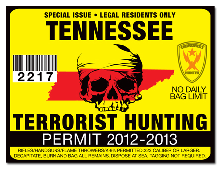 Terrorist hunting permit license choose from all u s for Tn fishing license online