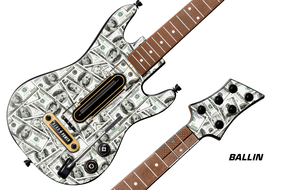 Rock Band Guitar Stickers
