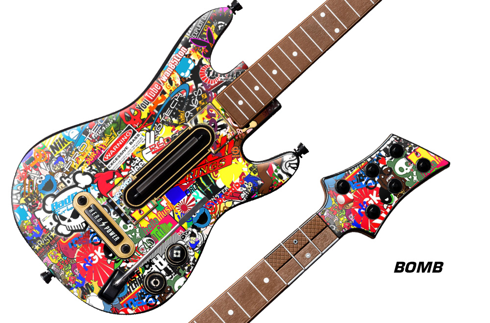 Guitar hero live custom controller 1 skin decal cover sticker graphic upgrade
