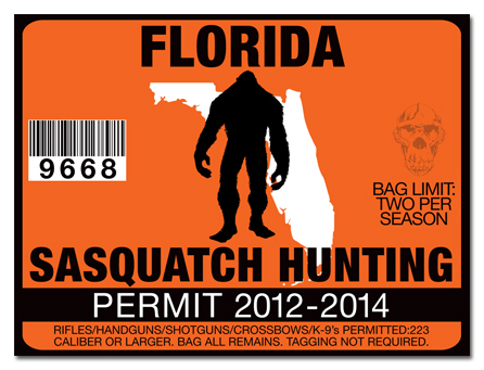 Sasquatch hunting permit license choose from all u s for Florida hunting and fishing license