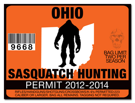 Sasquatch hunting permit license choose from all u s for Ohio state fishing license