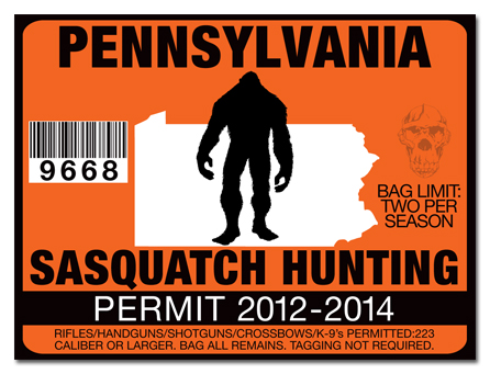 Sasquatch hunting permit license choose from all u s for Michigan fishing license price
