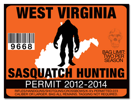 Sasquatch hunting permit license choose from all u s for Va fishing license price