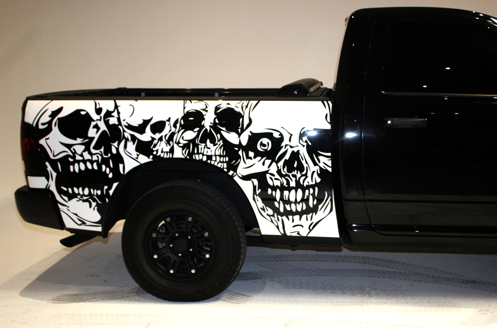 Dodge ram 09 14 vinyl graphics for bed fender