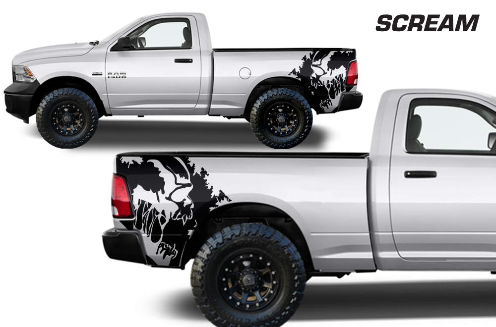 Dodge Ram  Vinyl Graphics For Bed Fender - Custom vinyl decals for black cars