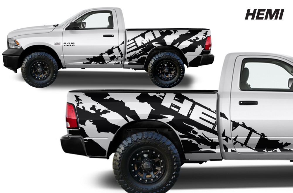 Dodge Ram Vinyl Graphics For Bed Fender - Custom truck decals vinyls