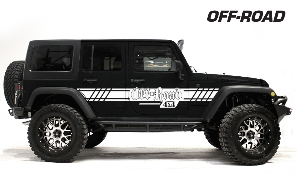 Rubicon Off Road >> Jeep Wrangler Rubicon Custom Vinyl Graphics Decal Wrap Kit 2007-2016 - OFF ROAD
