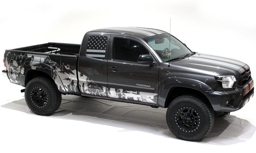 Toyota Tacoma 2005 2015 Custom Half Side Decal Truck Wrap
