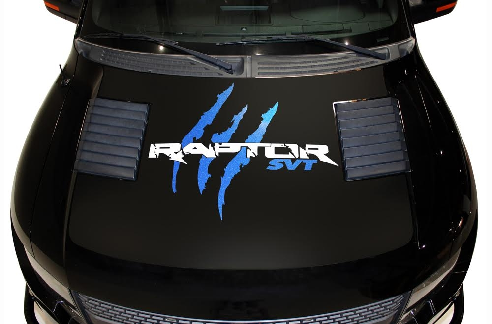 Ford Raptor Vinyl Graphics For Hood