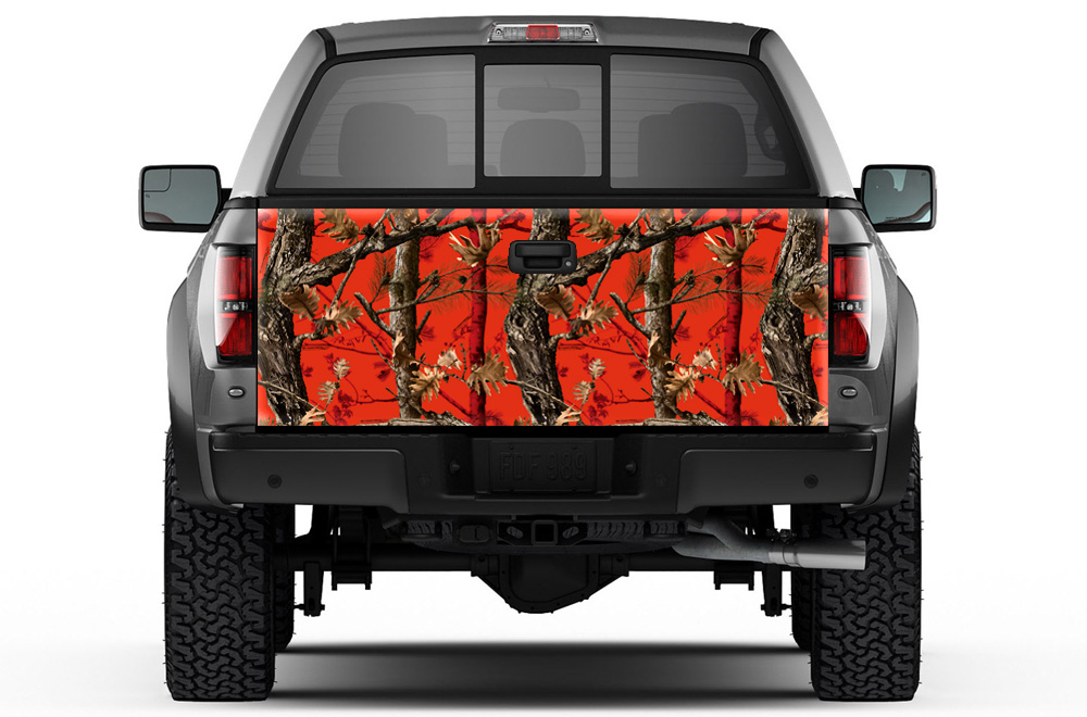 Universal Tailgate Graphic Wrap Trim Kit For Ford Chevy
