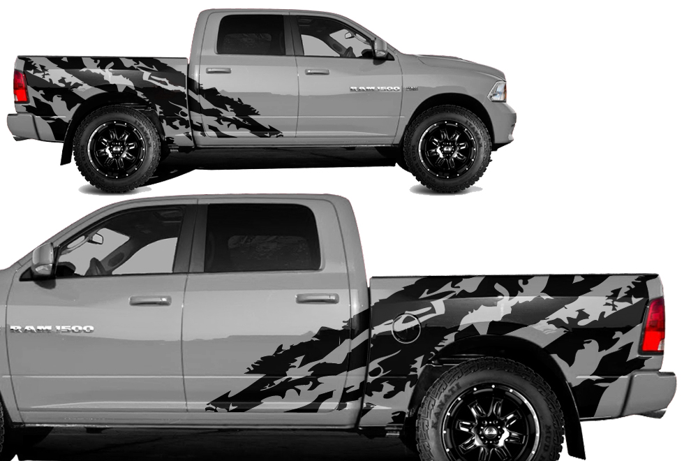 Dodge Ram Vinyl Graphics For Bed Fender - Truck bed decals customford fvinyl graphics for bed fender